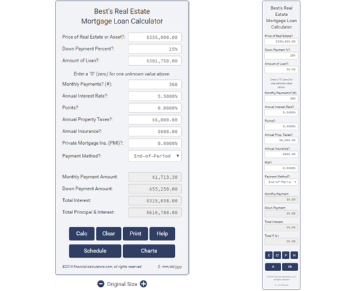 mortgage calculator plugin