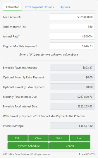 A biweekly mortgage calculator