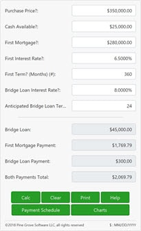 A bridge loan calculator