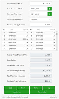 Internal Rate of Return Calculator | IRR with Exact Dates