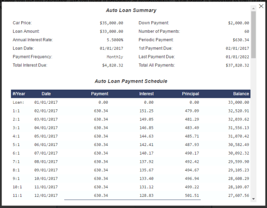 amortization auto schedule calculator under fontanacountryinn com