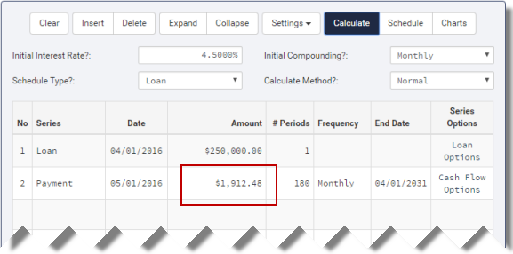 loan example calculated
