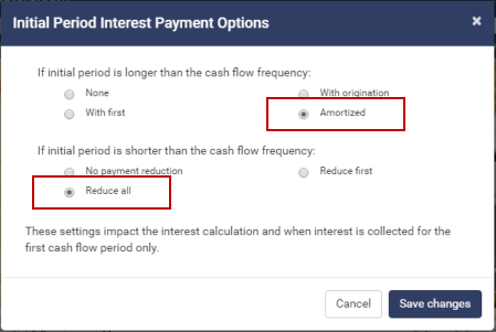 loan rounding options