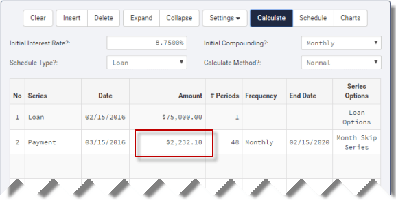 Missed or Skipped Loan Payment Calculations