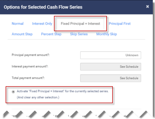 Activate a fixed principal series