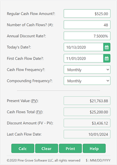 A present value of an annuity calculator
