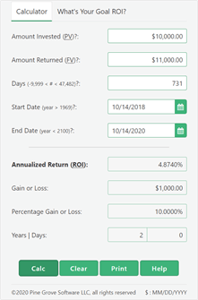 Investment calculator collateral eagle star investments serie iii percent
