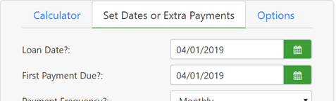 set first payment date
